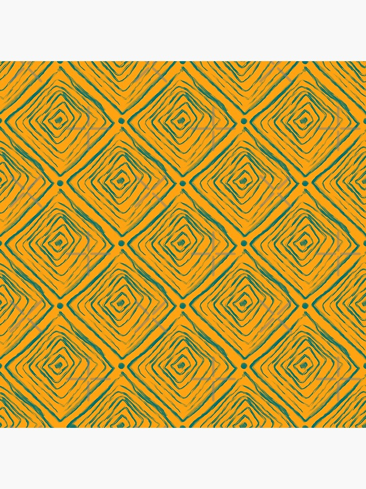 Indigenous Brazilian Pattern - Green and Yellow by adarovai