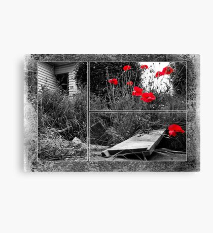 After The Earthquake - Out of the Cracks Canvas Print