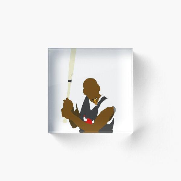 Michael Jordan x Baseball bat x Cigar Acrylic Block