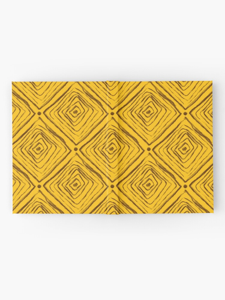 Alternate view of Indigenous Brazilian Pattern - Brown and Yellow Hardcover Journal