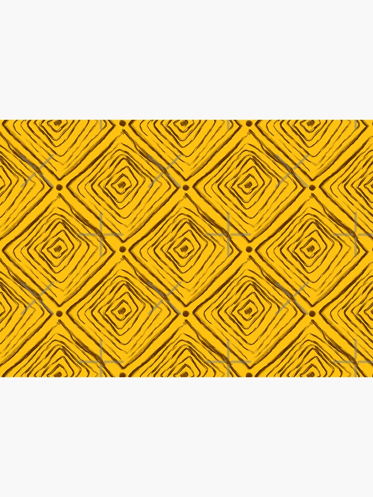 Indigenous Brazilian Pattern - Brown and Yellow by adarovai