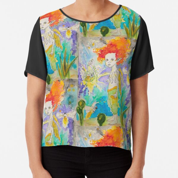 Lord of the Fireflies Chiffon Top