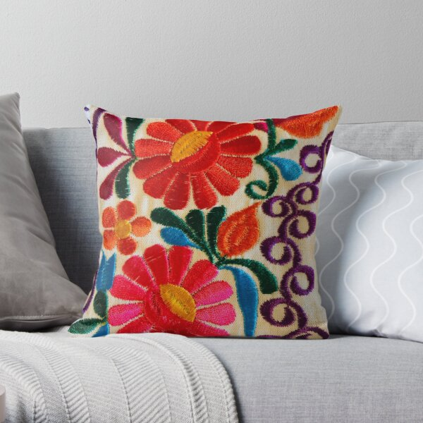 Mexico's Flowers Throw Pillow