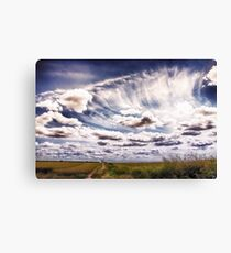 Sweeping clouds Canvas Print