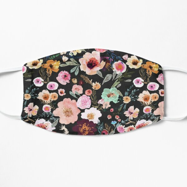 Burst into Bloom (midnight) Flat Mask