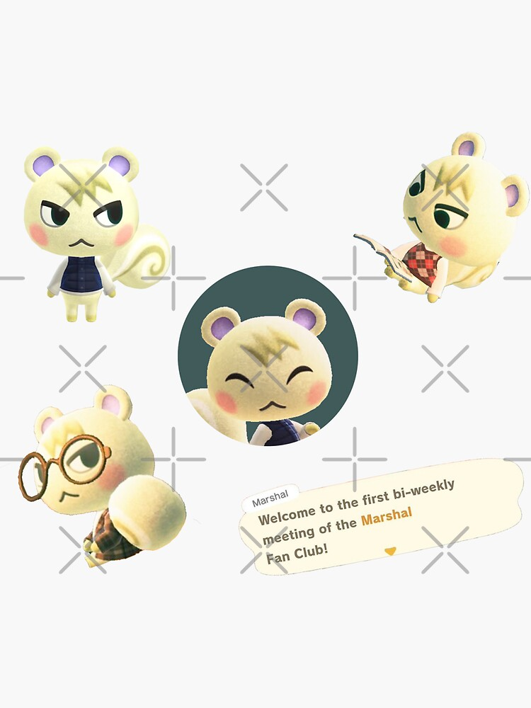 Marshal Animal Crossing Sticker Pack by emhues