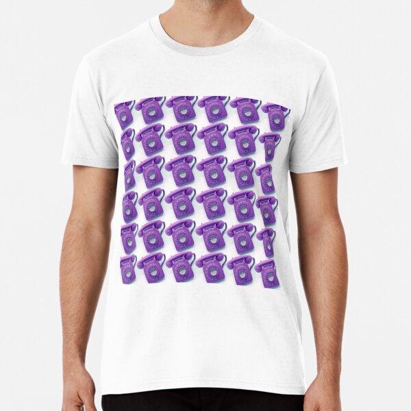 Purple vintage telephone pattern Premium T-Shirt