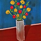Still Life with Red and Yellow Flowers by Sarah Countiss
