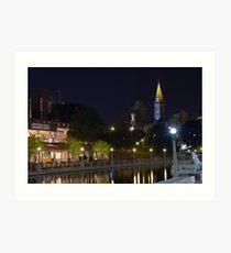 Rideau Canal Ottawa Art Print