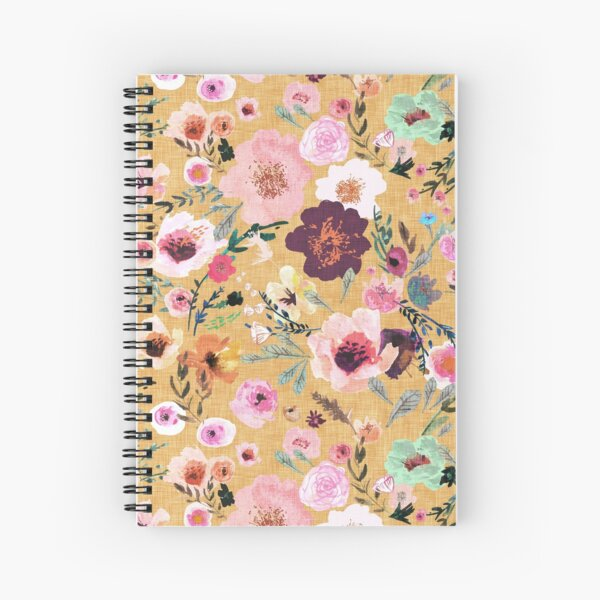 Burst into Bloom (mustard gold) Spiral Notebook