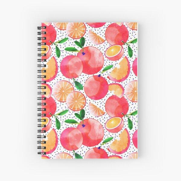 Citrus Love #digitalart #citrus Spiral Notebook