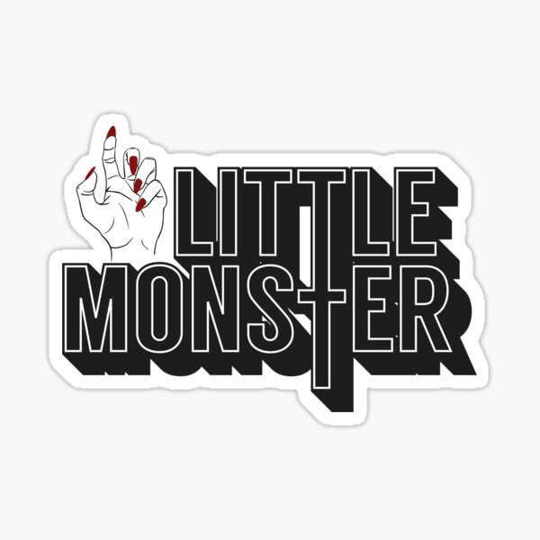 Little Monster Paws Up Sticker