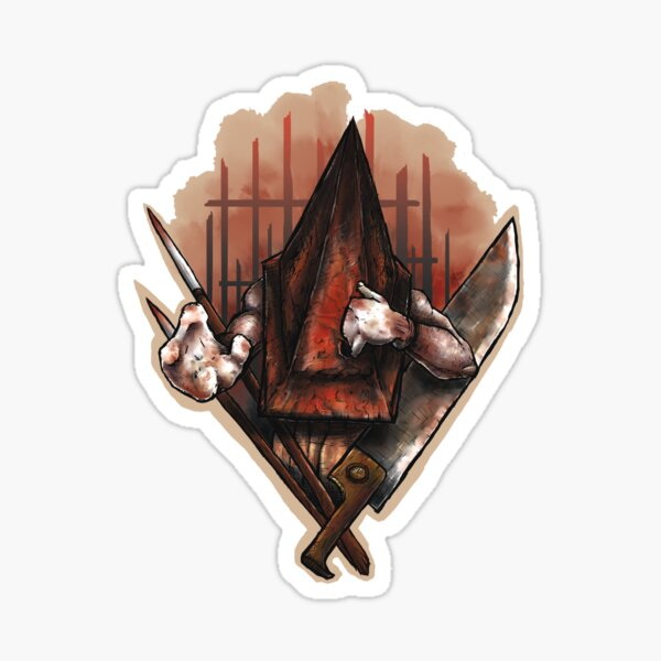Red Pyramid Thing Sticker