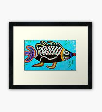 "BANDIT - the fish that ""resurfaced"" from the flames Framed Print"