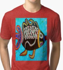 "BANDIT - the fish that ""resurfaced"" from the flames Tri-blend T-Shirt"
