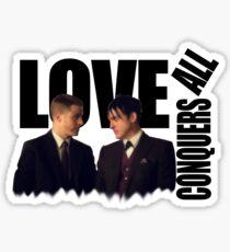 oswald + jim Sticker