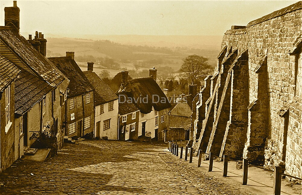 Gold Hill in Sepia by David Davies