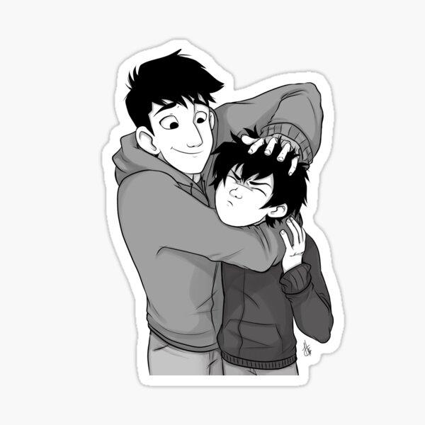 Tadashi and Hiro Sticker