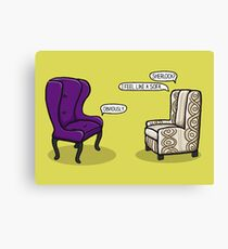 Consulting Armchair and Army Upholstery Canvas Print