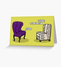 Consulting Armchair and Army Upholstery Greeting Card