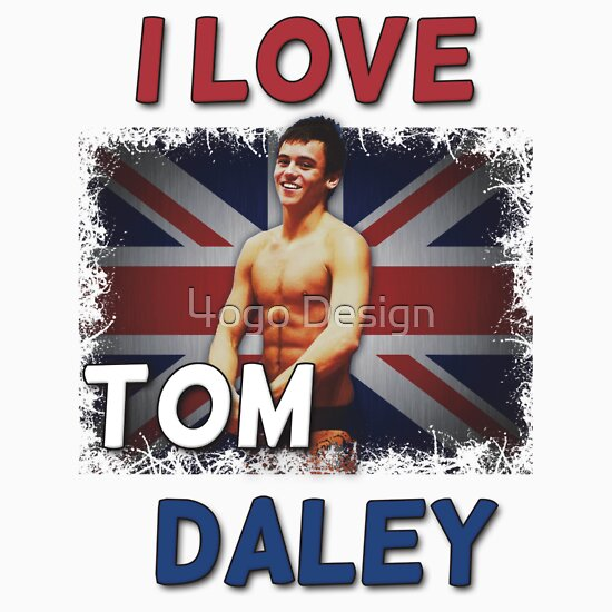 TShirtGifter presents: I Love Tom Daley T-Shirt