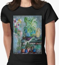 Table of a Plant Lover Womens Fitted T-Shirt