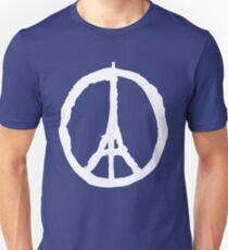 Peace for Paris - white - paix pour Paris - Pray Unisex T-Shirt