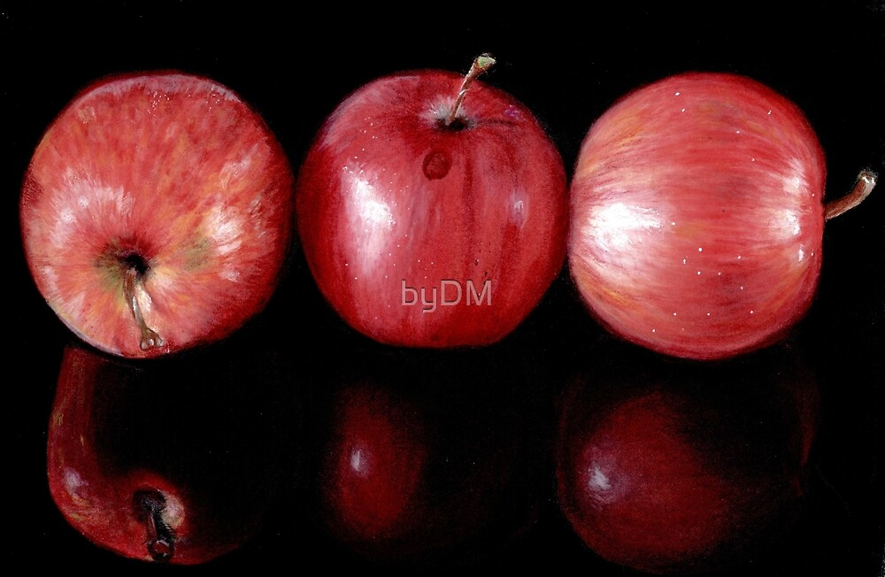 Red Apples in  Colour Pencil by DMxx