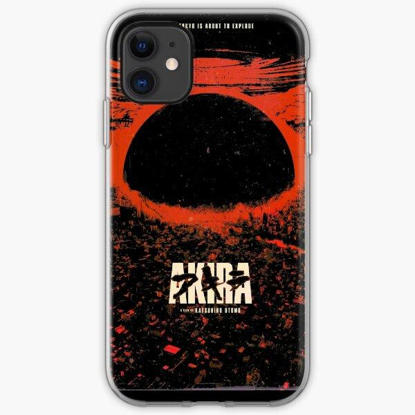 Akira cyberpunk city explosion transparent iPhone Soft Case