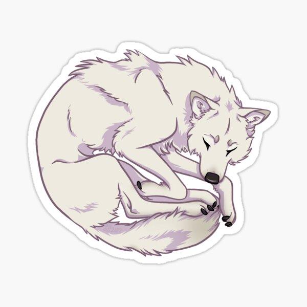 Snooze Wolf Sticker