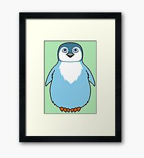 Light Blue Baby Penguin Framed Print