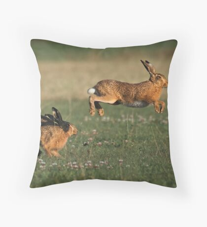 Hare Chase Throw Pillow