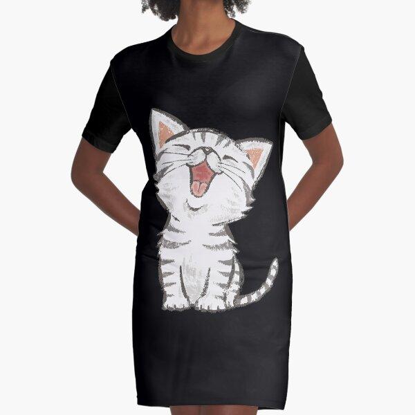American Shorthair happy Graphic T-Shirt Dress