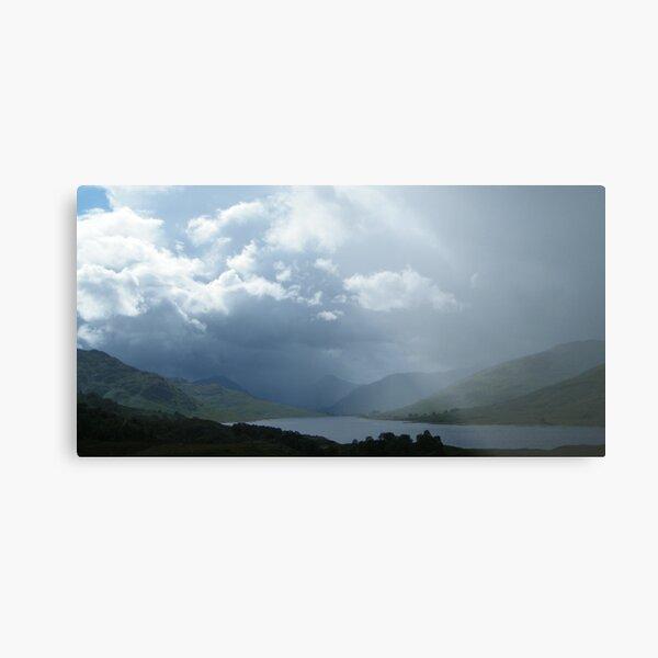 Mist over Loch Arklet, Scotland Metal Print