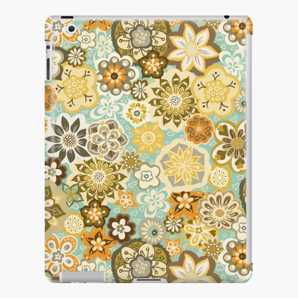 Beautiful Bouquet of Midsummer Blooms in teal, orange, yellow and brown iPad Snap Case