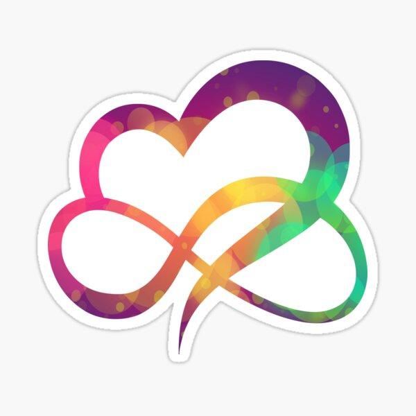 Infinity Heart | Polyamory symbol | Colorful heart Sticker