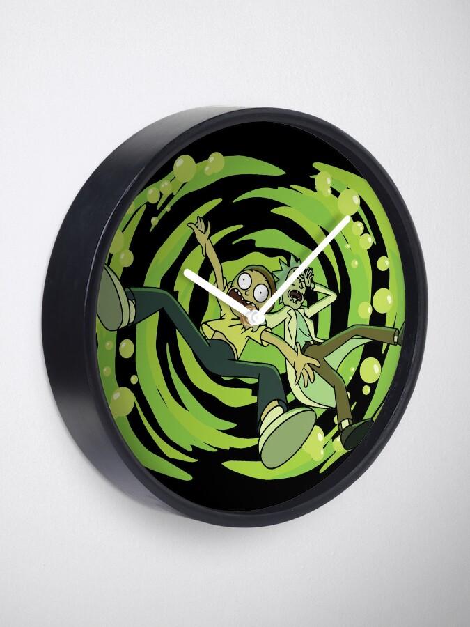 Alternate view of The Vat Of Acid Design (Rick & Morty) Clock
