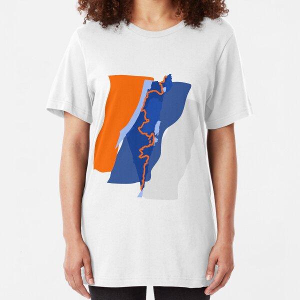 Israel National Trail Shvil Israel, Pilgern, Wandern Slim Fit T-Shirt