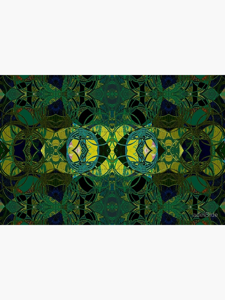 The Coronation- Yellow and Green Art Deco by adel8ide