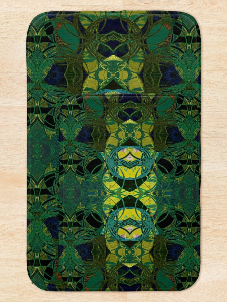 Alternate view of The Coronation- Yellow and Green Art Deco Bath Mat