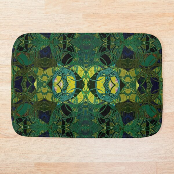 The Coronation- Yellow and Green Art Deco Bath Mat
