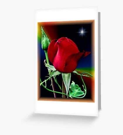 A Rose and a Star Greeting Card