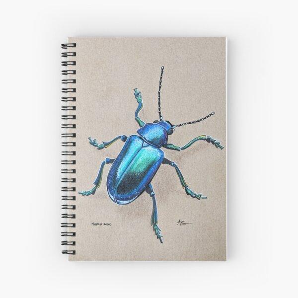 Iridescent Beetle Spiral Notebook