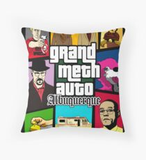 Grand Meth Auto Throw Pillow