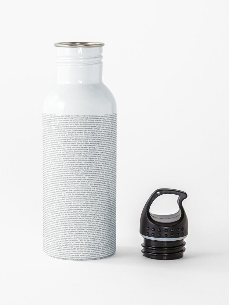 Alternate view of entire shrek script Water Bottle