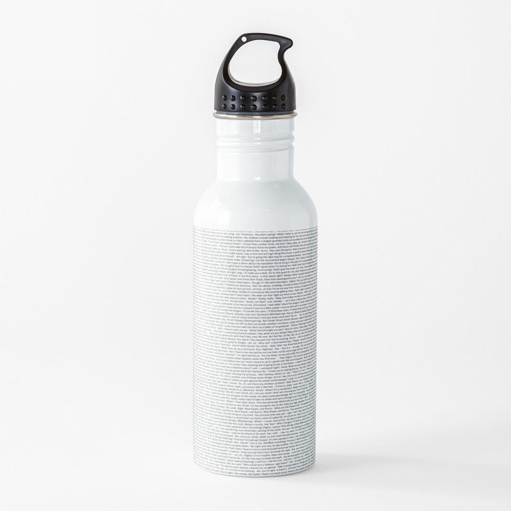entire shrek script Water Bottle