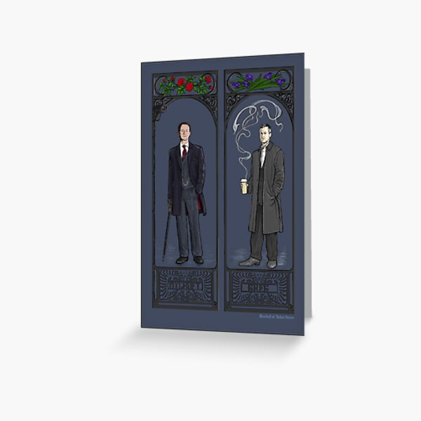 Mycroft and Greg Greeting Card
