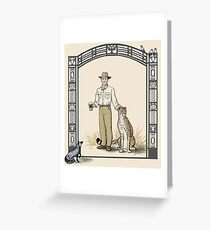 Zookeeper Lestrade Greeting Card