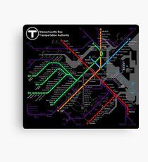 MBTA Boston Subway - The T Canvas Print
