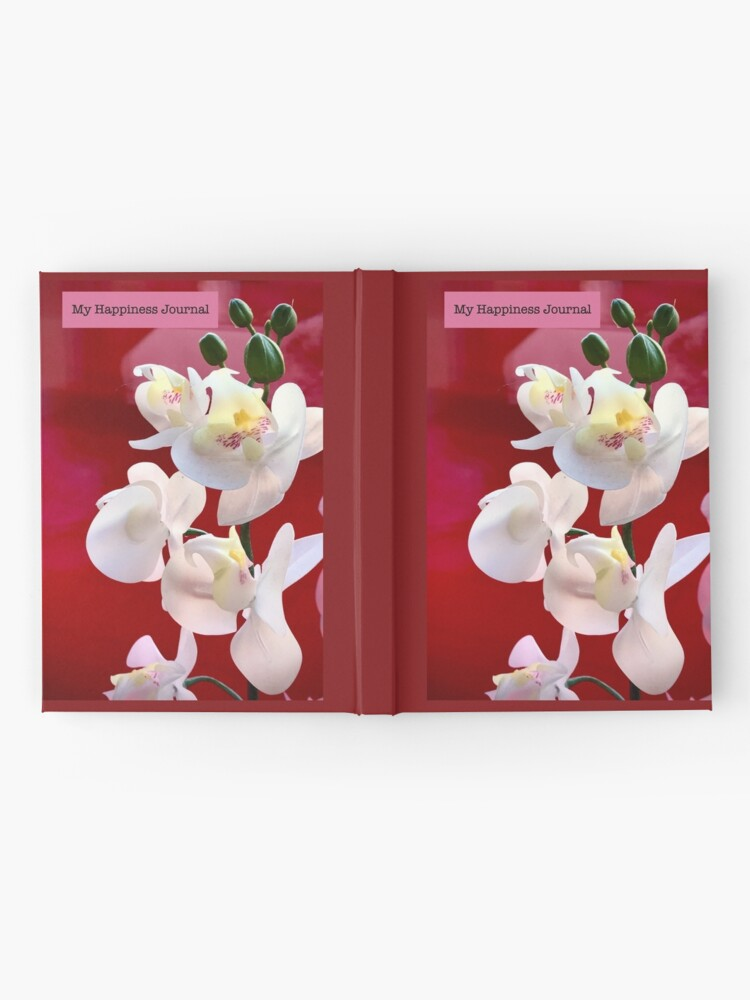 Alternate view of Happiness Journal White Orchids Hardcover Journal